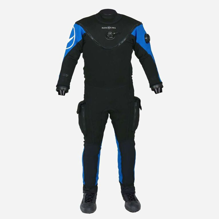 Fusion Bullet Drysuit, Black/Blue, hi-res image number 0