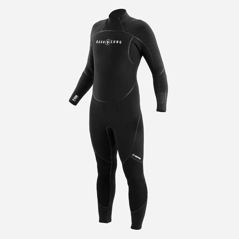 AquaFlex 7mm Wetsuit - Men, Black/Grey, hi-res image number 2
