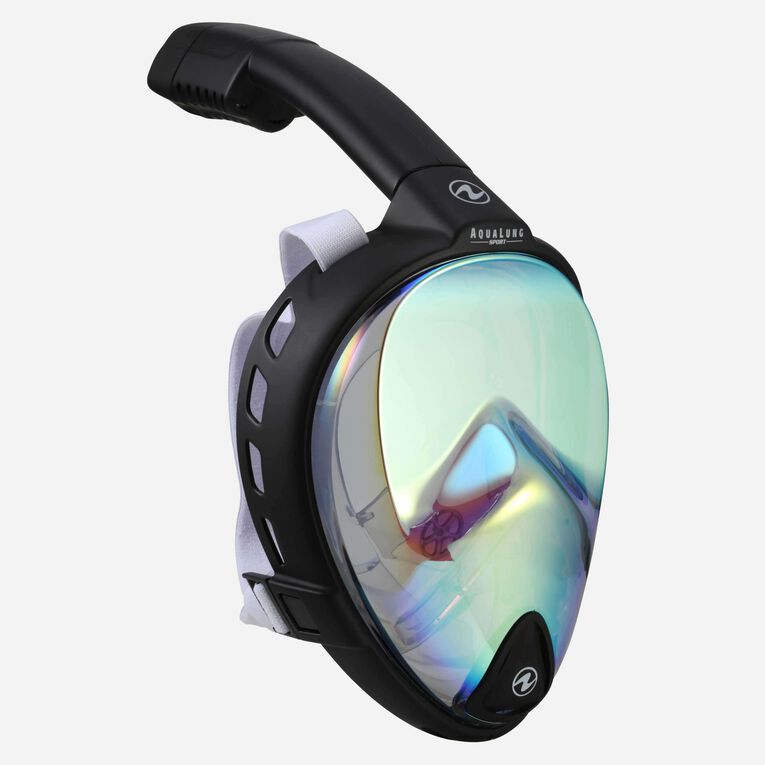 HydroAir II LX, Full Face Mask, Black/White/Lens mirror gold, hi-res image number 0