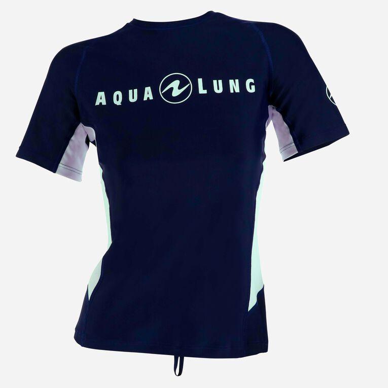 Rashguard Loose Fit Short sleeves - Women, Navy blue/White, hi-res image number 0