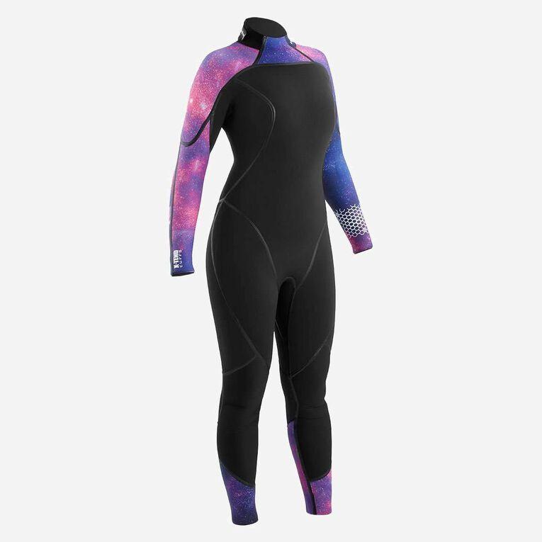 AquaFlex 7mm Wetsuit - Women, Black/Purple, hi-res image number 0