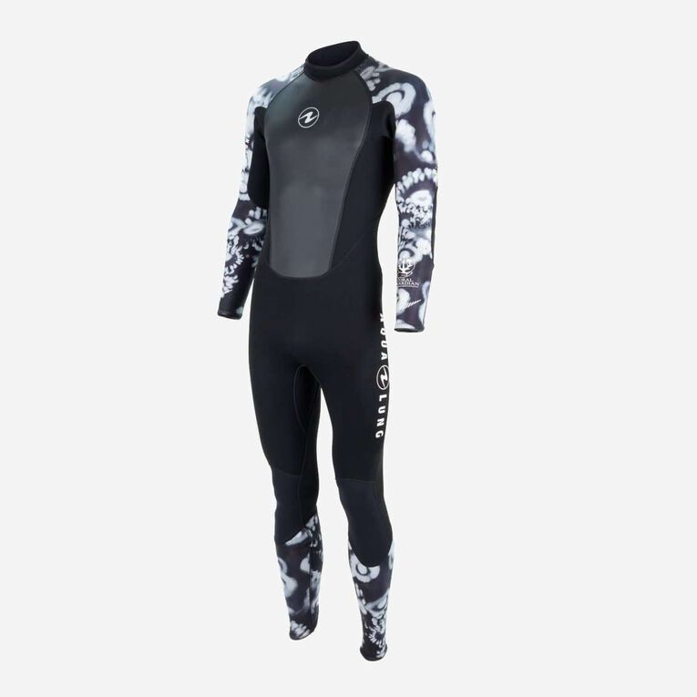 HydroFlex 3mm Coral Guardian Wetsuit Men, Black/White, hi-res image number 2