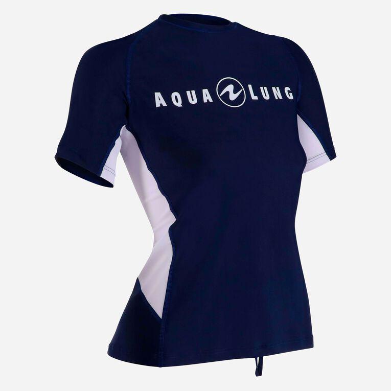 Rashguard Loose Fit Short sleeves - Women, Navy blue/White, hi-res image number 1