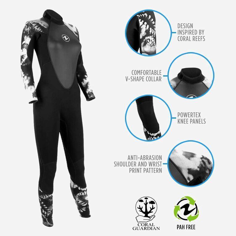 HydroFlex Coral Guardian 3mm Wetsuit Women, Black/White, hi-res image number 1