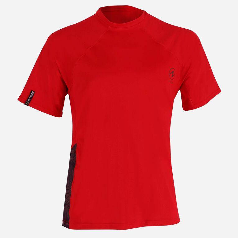 Xscape Rashguard short sleeves - Men, Red/Dark green, hi-res image number null