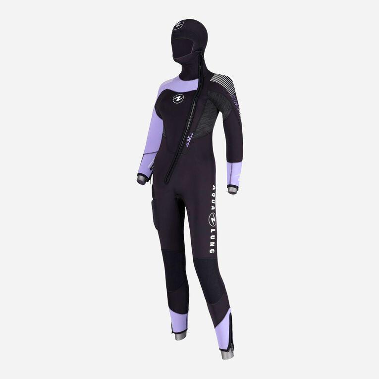 DynaFlex 6.5mm Wetsuit with Hood Women, Black/Purple, hi-res image number null