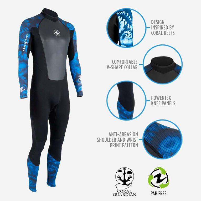 HydroFlex 3mm Coral Guardian Wetsuit Men, Black/Blue, hi-res image number 1