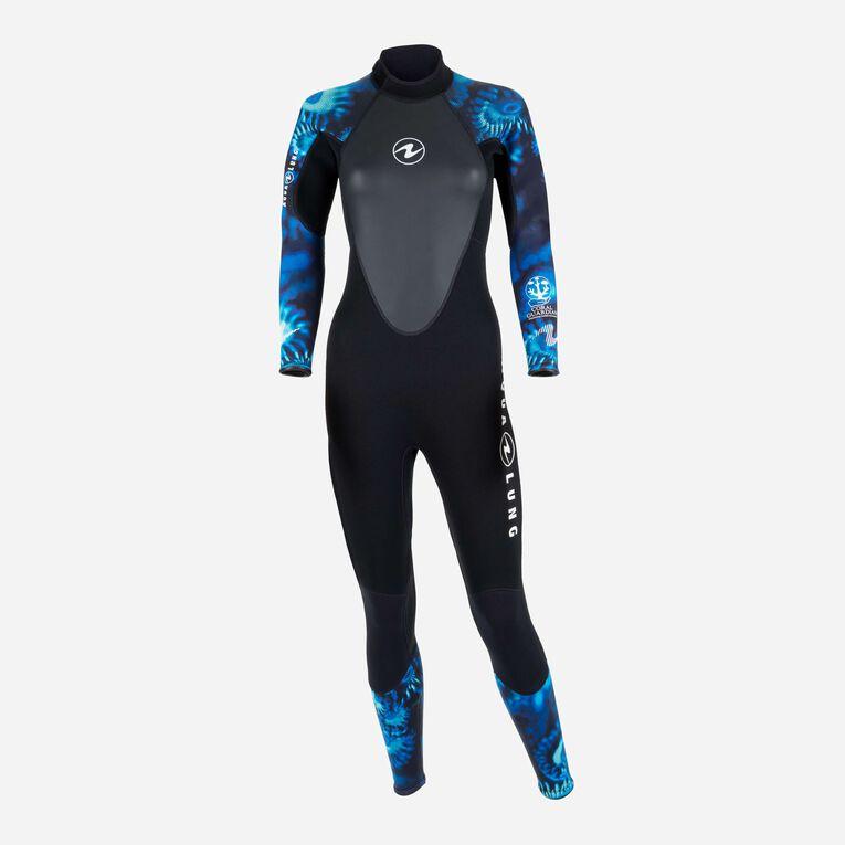 HydroFlex 1mm Coral Guardian Wetsuit Women, Black/Blue, hi-res image number 0