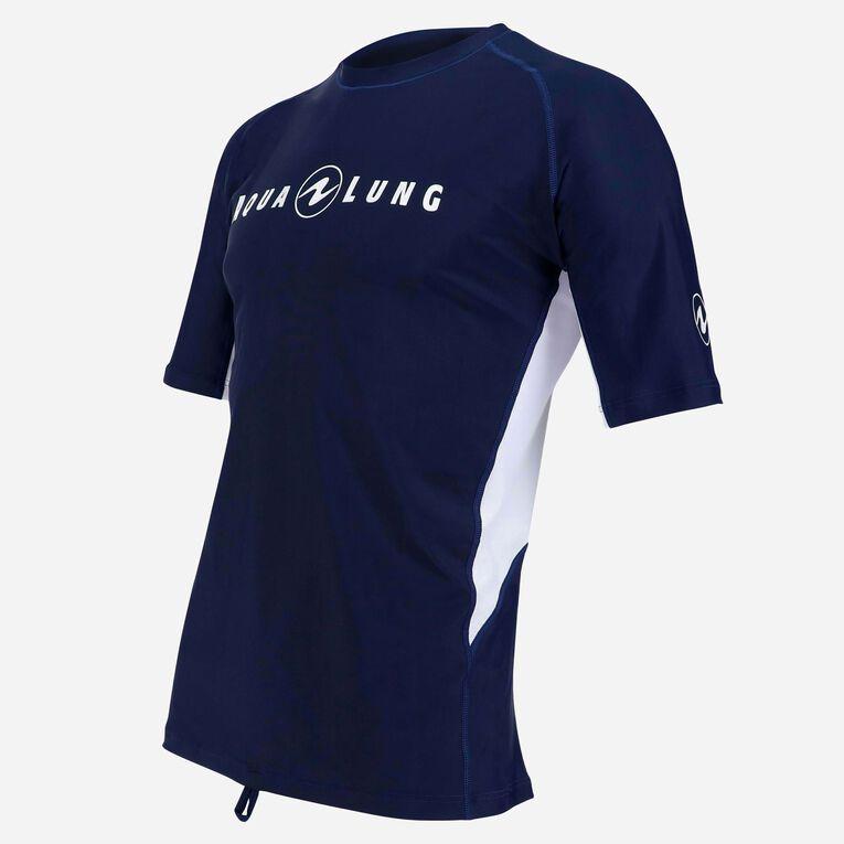 Rashguard Short Sleeve loose fit - Men, Navy blue/White, hi-res image number 2