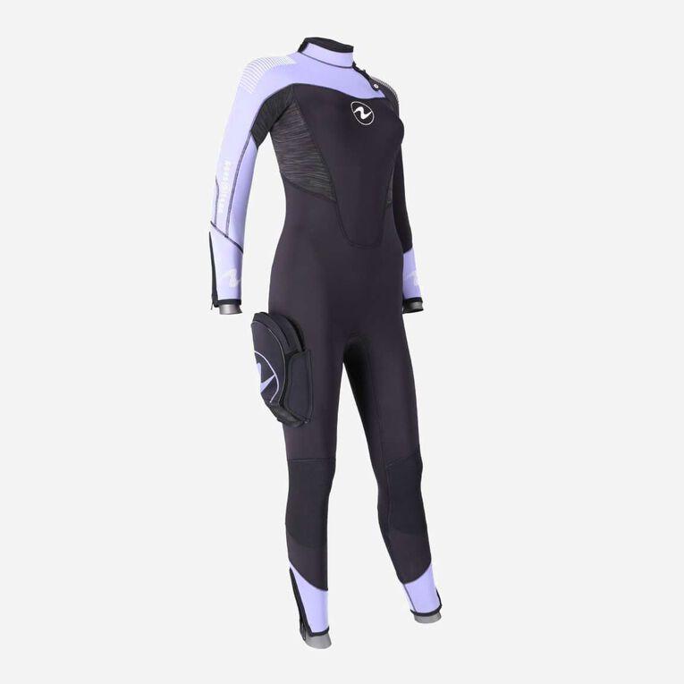 DynaFlex 5.5mm Wetsuit Women, Black/Purple, hi-res image number 1