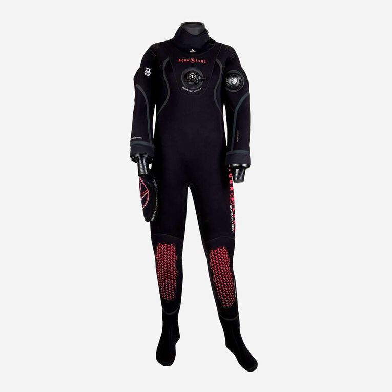 Blizzard Pro Drysuit, Black/Coral, hi-res image number null