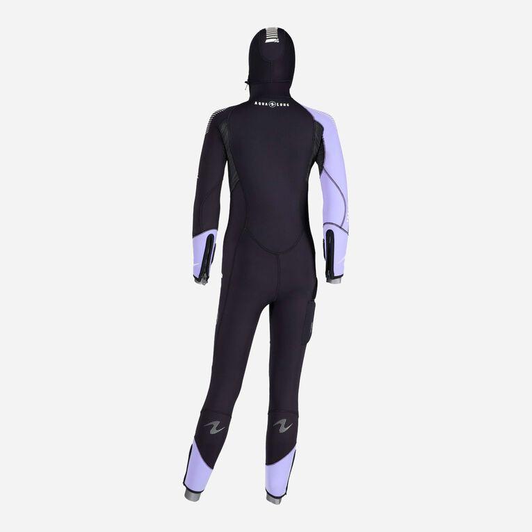 DynaFlex 6.5mm Wetsuit with Hood Women, Black/Purple, hi-res image number 3
