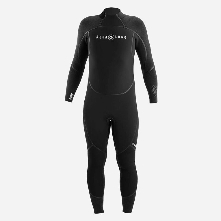 AquaFlex 7mm Wetsuit - Men, Black/Grey, hi-res image number 1