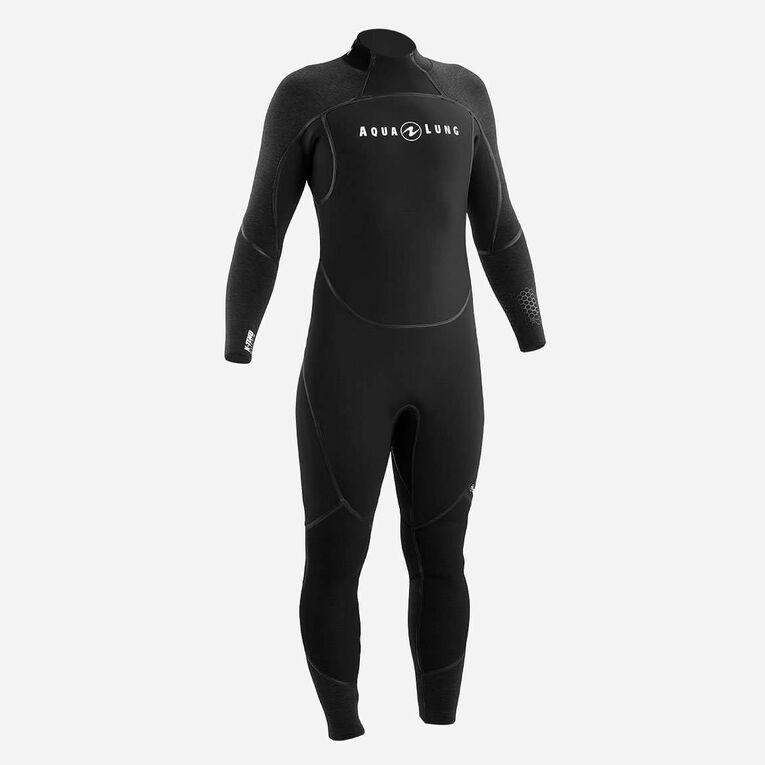 AquaFlex 7mm Wetsuit - Men, Black/Grey, hi-res image number 0