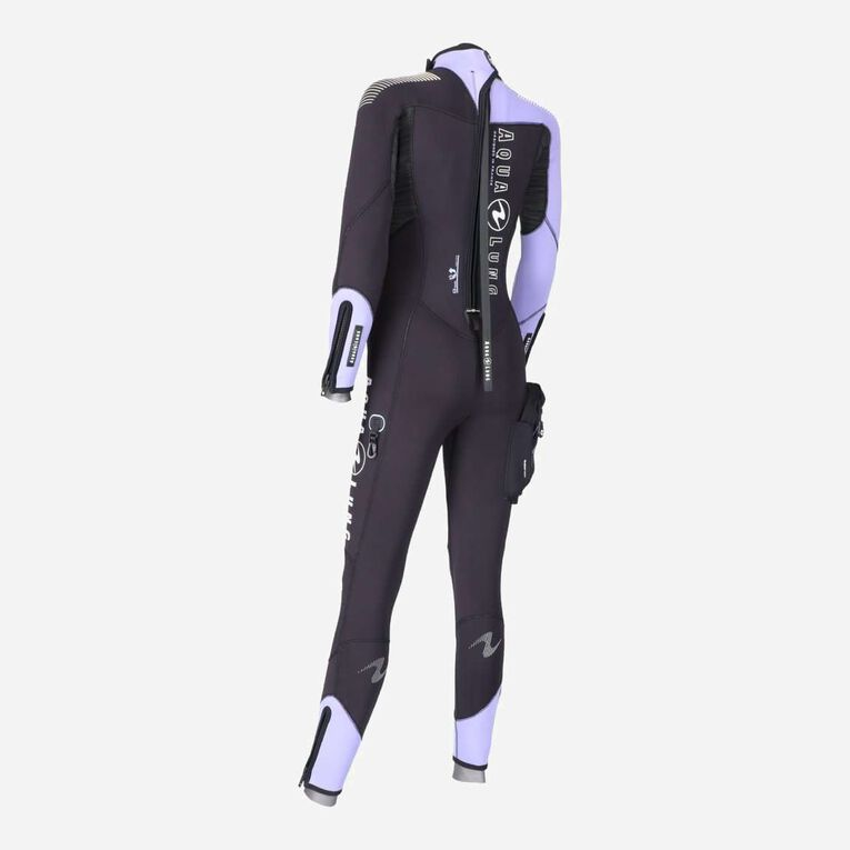 DynaFlex 5.5mm Wetsuit Women, Black/Purple, hi-res image number 3