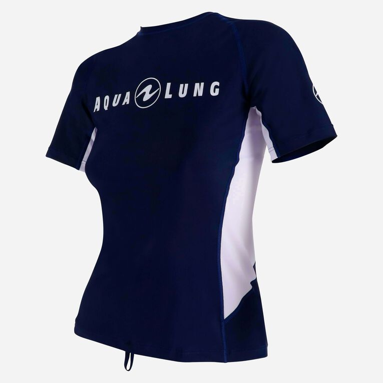 Rashguard Loose Fit Short sleeves - Women, Navy blue/White, hi-res image number 2