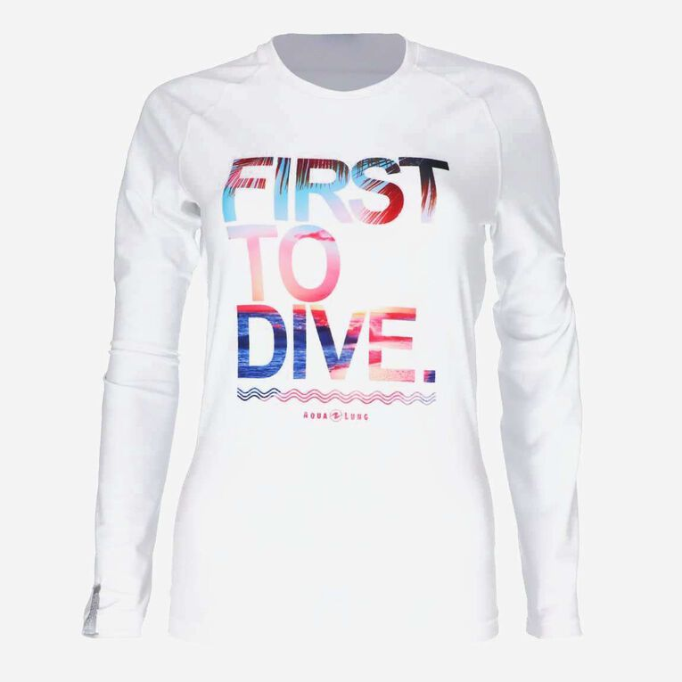 Sportswear Rashguard - Women, White/Multicolor, hi-res image number null