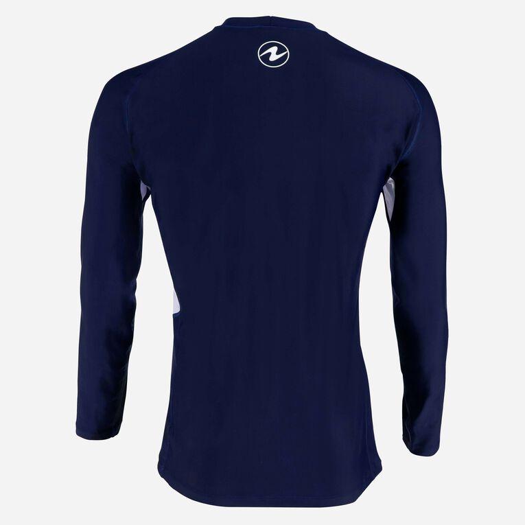 Rashguard Loose fit Long sleeves - Men, Navy blue/White, hi-res image number 2
