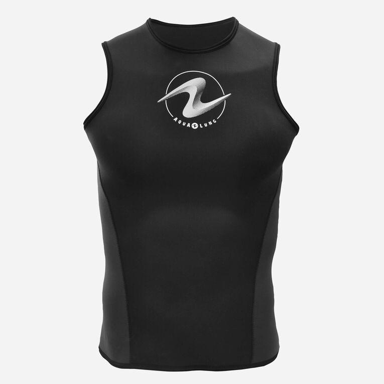 AquaFlex 2mm Hooded Vest - Men, Black/White, hi-res image number 0