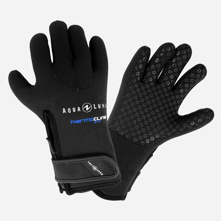 5mm Thermocline Zip Gloves, Black, hi-res image number 0