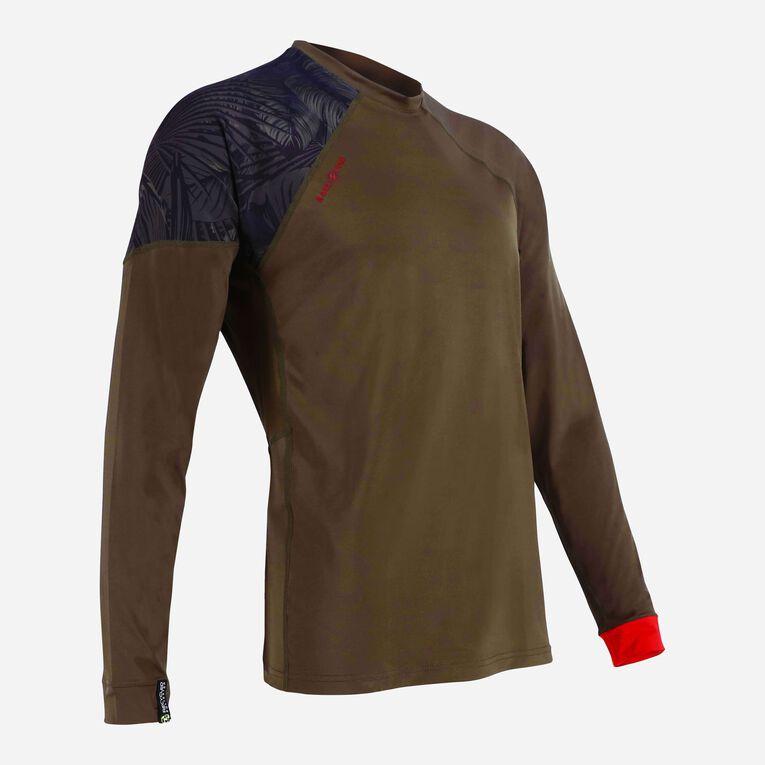 Xscape Rashguard Loose fit Long sleeves - Men, Dark green/Red, hi-res image number 1