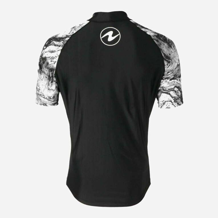 Aqua Rashguard Short Sleeve - Men, Black/White, hi-res image number 3