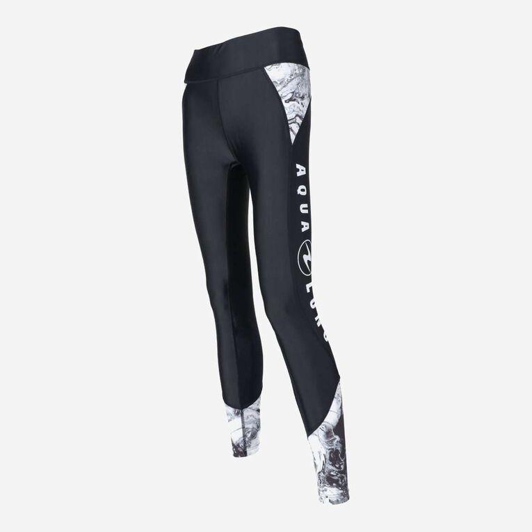 Aqua Rashguard Leggings - Women, Black/White, hi-res image number 1