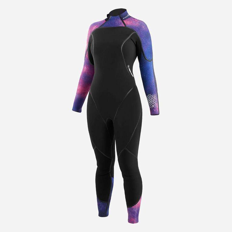 AquaFlex 7mm Wetsuit - Women, Black/Purple, hi-res image number 1