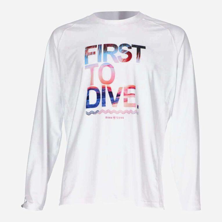 Sportswear Rashguard lifestyle fit short sleeve - Men, White/Multicolor, hi-res image number null