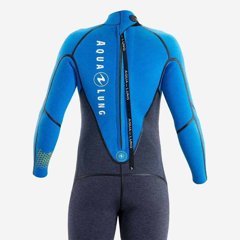 AquaFlex 5mm Wetsuit - Men, Grey/Blue, hi-res image number null