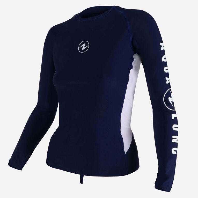 Rashguard Loose fit Long sleeves - Women, Navy blue/White, hi-res image number 2