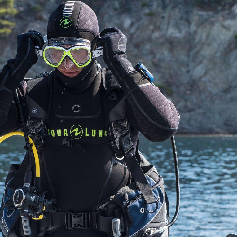 Iceland 7mm Semi-Dry Wetsuit Men, Black/Hot lime, hi-res image number null