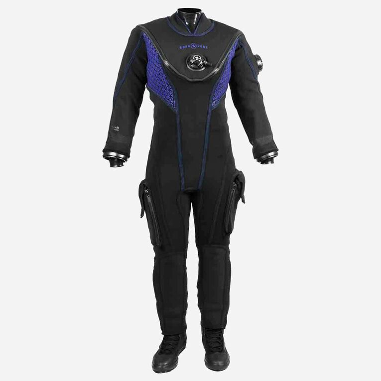 Fusion Fit Drysuit - Women's, Black/Twilight, hi-res image number 0