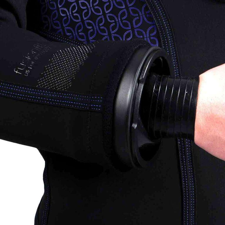 Fusion Fit Drysuit - Women's, Black/Twilight, hi-res image number 2