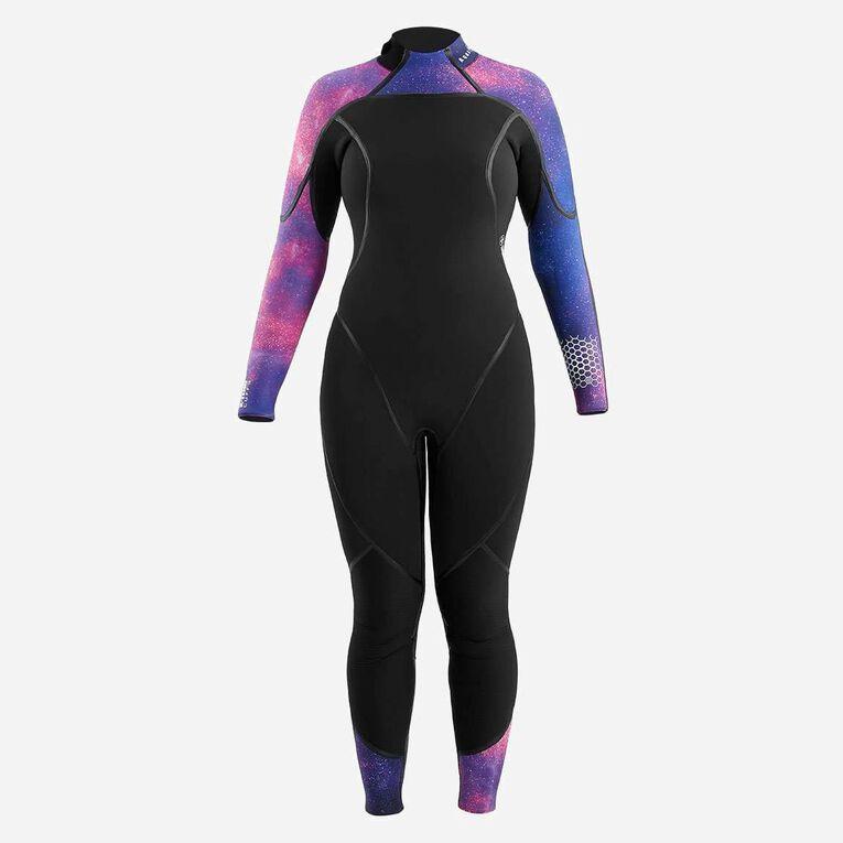 AquaFlex 7mm Wetsuit - Women, Black/Purple, hi-res image number 2