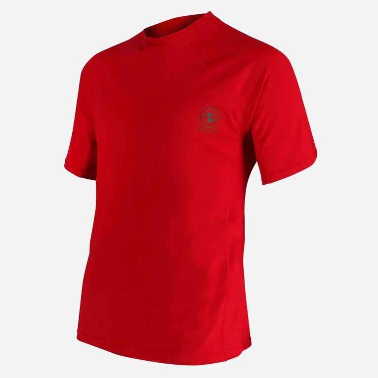 Xscape Rashguard short sleeves - Men, Red/Dark green, hi-res image number 2