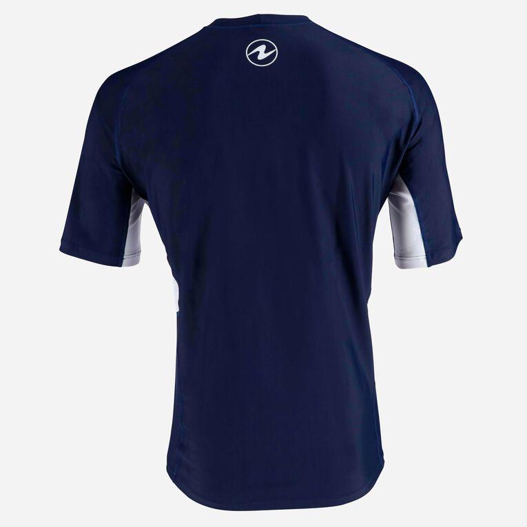 Rashguard Short Sleeve loose fit - Men, Navy blue/White, hi-res image number 3
