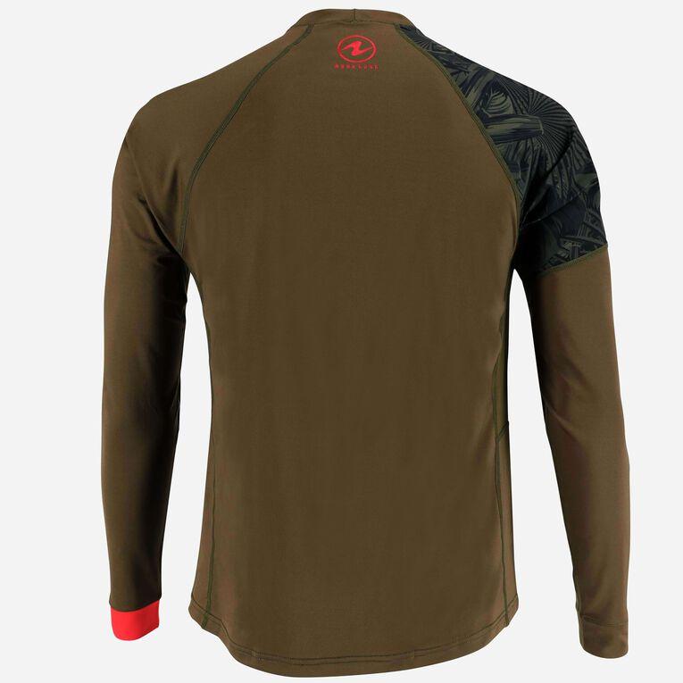 Xscape Rashguard Loose fit Long sleeves - Men, Dark green/Red, hi-res image number 3