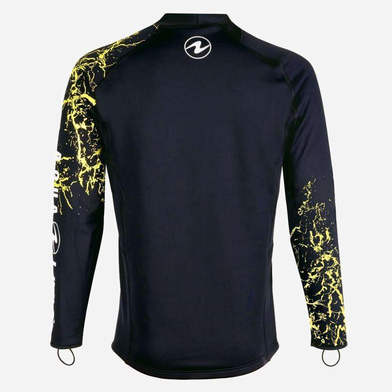 CeramiQskin Long Sleeves Top - Men, Black/Hot lime, hi-res image number null