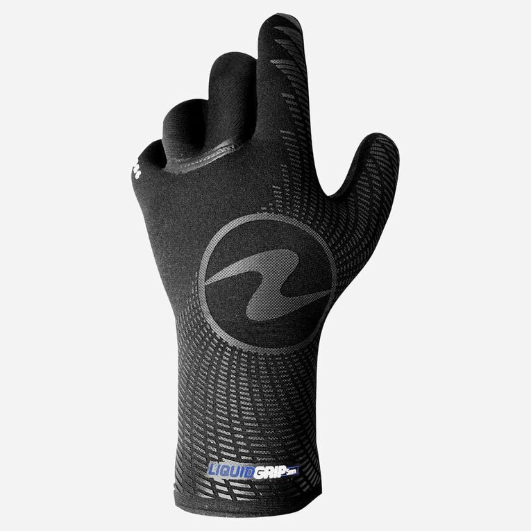 3mm Liquid Grip Gloves, Black/Blue, hi-res image number null