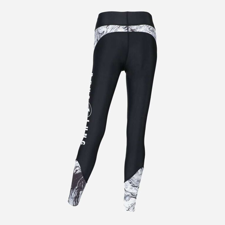 Aqua Rashguard Leggings - Women, Black/White, hi-res image number 2