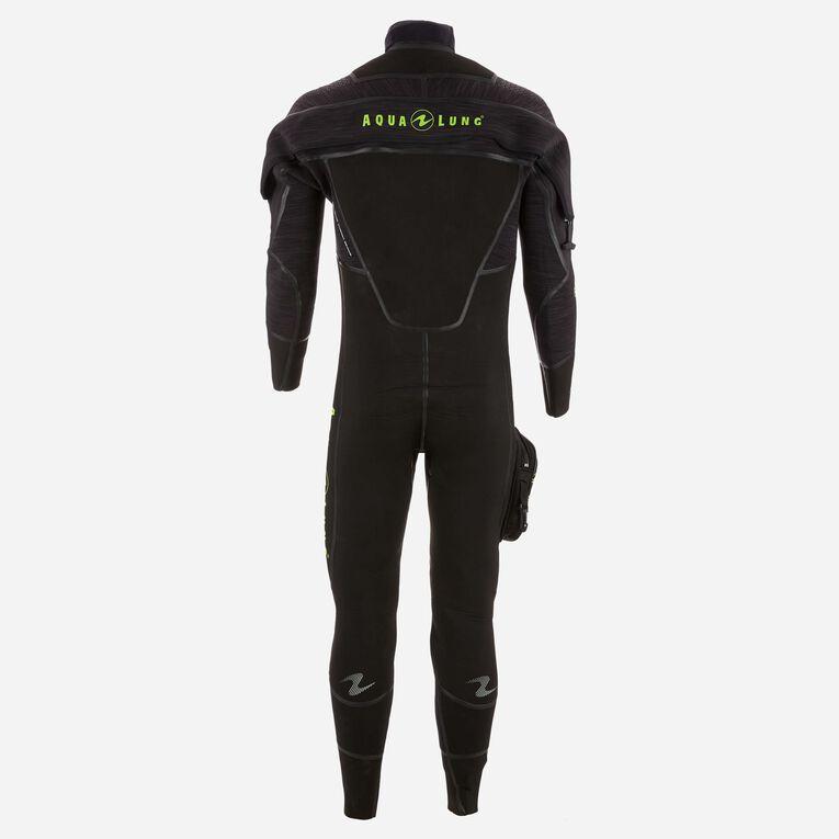 Iceland 7mm Semi-Dry Wetsuit Men, Black/Hot lime, hi-res image number 1