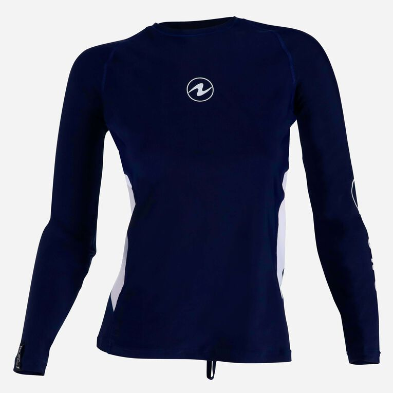 Rashguard Loose fit Long sleeves - Women, Navy blue/White, hi-res image number 0