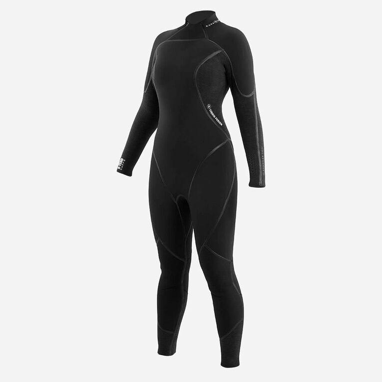 AquaFlex 3mm Wetsuit -Women, Black/Grey, hi-res image number 1