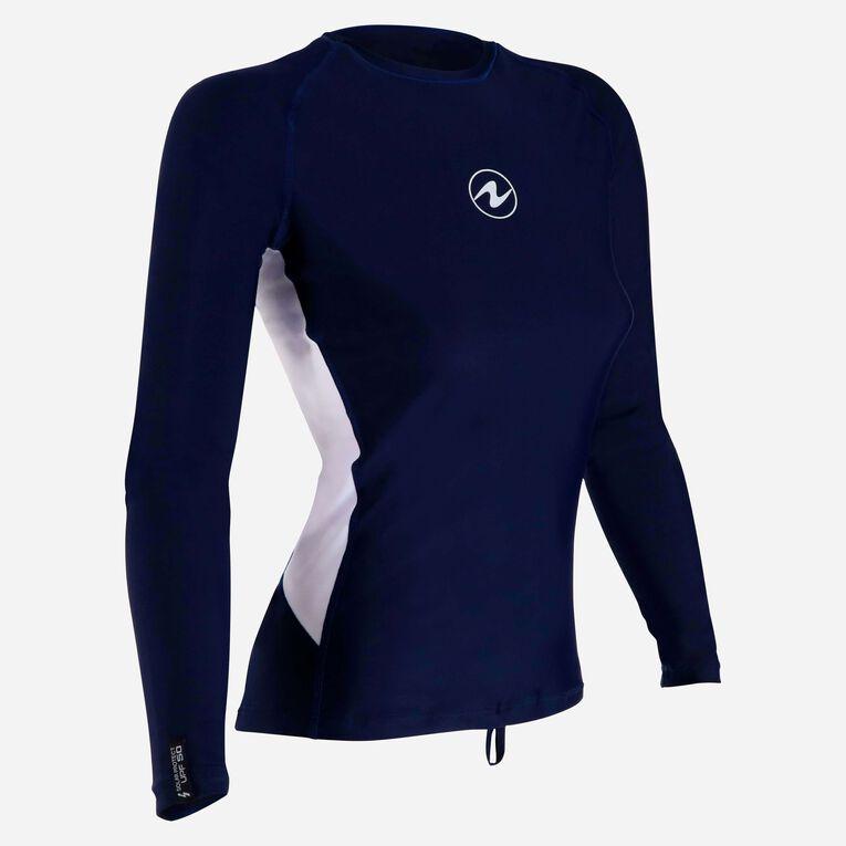 Rashguard Loose fit Long sleeves - Women, Navy blue/White, hi-res image number 1