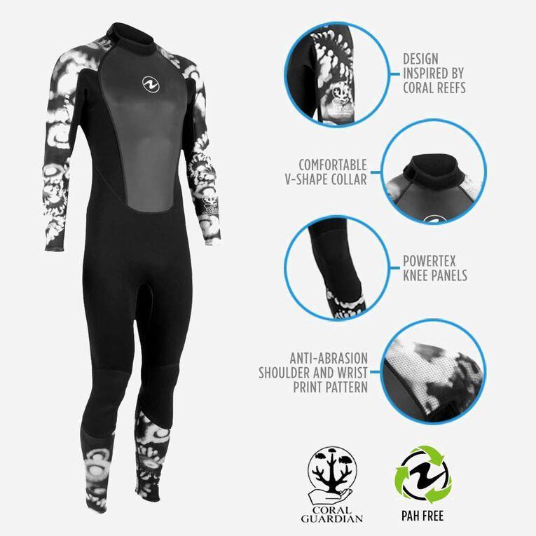 HydroFlex 3mm Coral Guardian Wetsuit Men, Black/White, hi-res image number 1