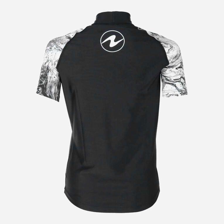 Aqua Rashguard Short Sleeve - Women, Black/White, hi-res image number 3