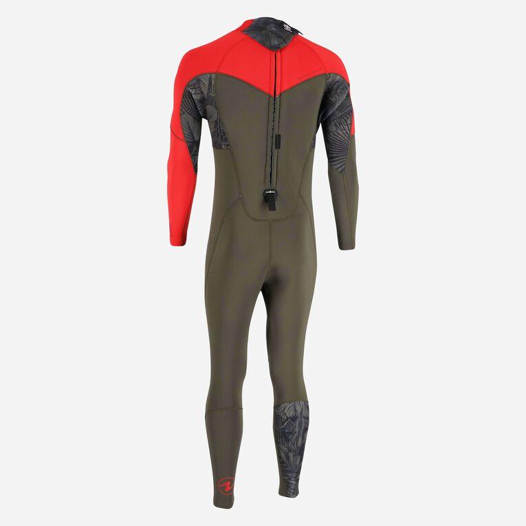 Xscape 4/3mm Wetsuit - Men, Dark green/Red, hi-res image number 3